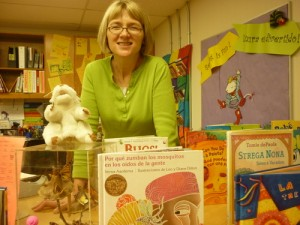 Author Julie Lake at her Webb Primary School Library