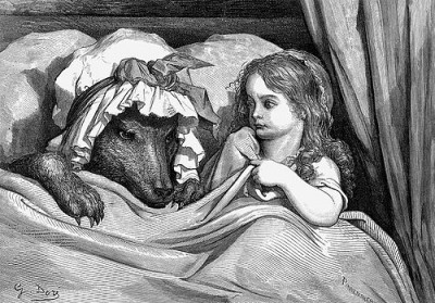 """Little Red"" by Gustave Dore"