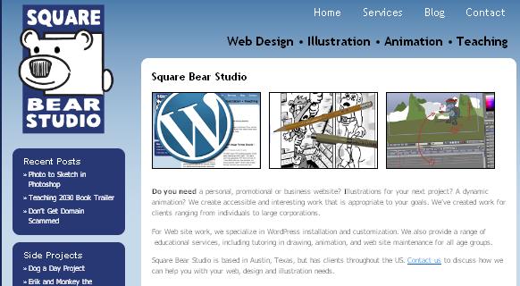 WordPress for artists?