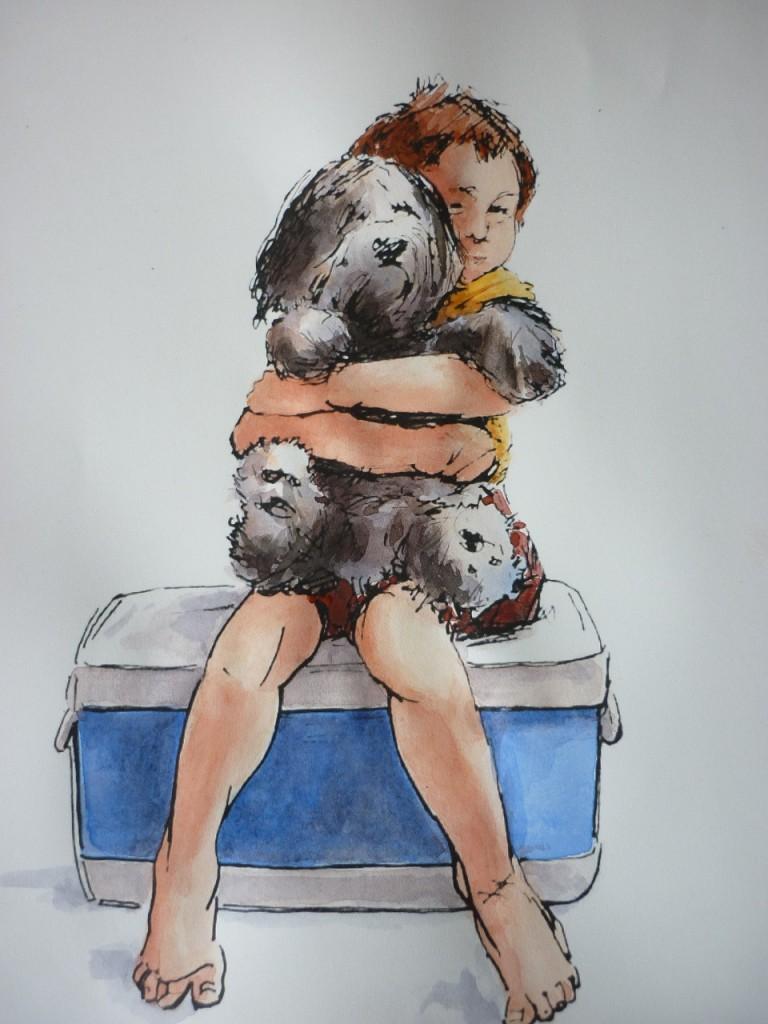 Kelly with Pooh Bear