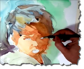 'Illustrating' with watercolor