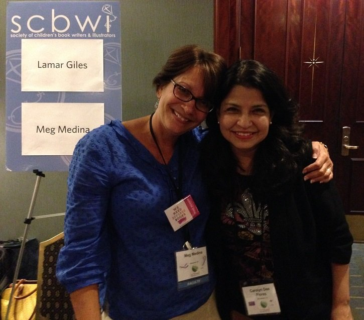 Author-illustrator Carolyn Dee Flores with author Meg Medina